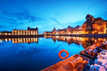 Gdansk, Poland old town, Motlawa river and famous crane, Polish Zuraw - PhotoDune Item for Sale