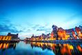 Gdansk, Poland old town, Motlawa river and famous crane, Polish Zuraw - PhotoDune Item for Sale