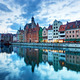 View of Gdansk old town and Motlawa river, Poland at sunset - PhotoDune Item for Sale