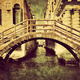 Venice, Italy vintage canvas. A romantic bridge - PhotoDune Item for Sale