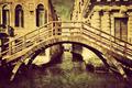 Venice, Italy vintage canvas. A romantic bridge - PhotoDune Item for Sale