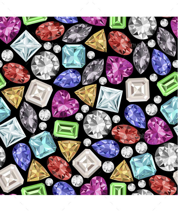 GraphicRiver Gemstone Pattern 9521966