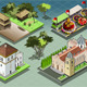 Isometric Tiles of South American Buildings - GraphicRiver Item for Sale