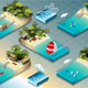 Isometric Tiles of Carribean Holidays - GraphicRiver Item for Sale
