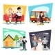Happy Family Geek Hipster Characters Life Situation - GraphicRiver Item for Sale