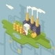 Isometric Retro Flat Factory Refinery Plant  - GraphicRiver Item for Sale