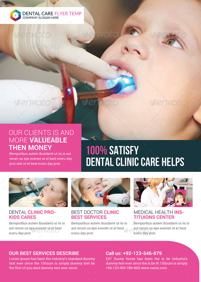 Dental Clinic Flyer Template by GraphicForestNet | GraphicRiver