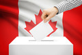 Voting concept - Ballot box with national flag on background - Canada - PhotoDune Item for Sale