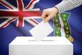 Voting concept - Ballot box with national flag on background - British Virgin Islands - PhotoDune Item for Sale