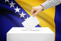 Voting concept - Ballot box with national flag on background - Bosnia and Herzegovina - PhotoDune Item for Sale
