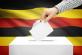 Voting concept - Ballot box with national flag on background - Uganda - PhotoDune Item for Sale