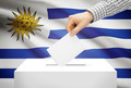 Voting concept - Ballot box with national flag on background - Uruguay - PhotoDune Item for Sale