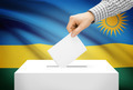 Voting concept - Ballot box with national flag on background - Rwanda - PhotoDune Item for Sale