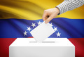 Voting concept - Ballot box with national flag on background - Venezuela - PhotoDune Item for Sale