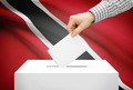 Voting concept - Ballot box with national flag on background - Trinidad and Tobago - PhotoDune Item for Sale