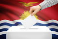 Voting concept - Ballot box with national flag on background - Kiribati - PhotoDune Item for Sale