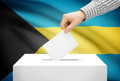 Voting concept - Ballot box with national flag on background - Bahamas - PhotoDune Item for Sale
