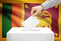 Voting concept - Ballot box with national flag on background - Sri Lanka - PhotoDune Item for Sale