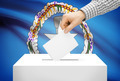 Voting concept - Ballot box with national flag on background - Northern Marianas - PhotoDune Item for Sale