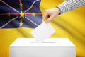 Voting concept - Ballot box with national flag on background - Niue - PhotoDune Item for Sale