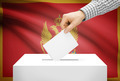 Voting concept - Ballot box with national flag on background - Montenegro - PhotoDune Item for Sale