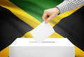 Voting concept - Ballot box with national flag on background - Jamaica - PhotoDune Item for Sale