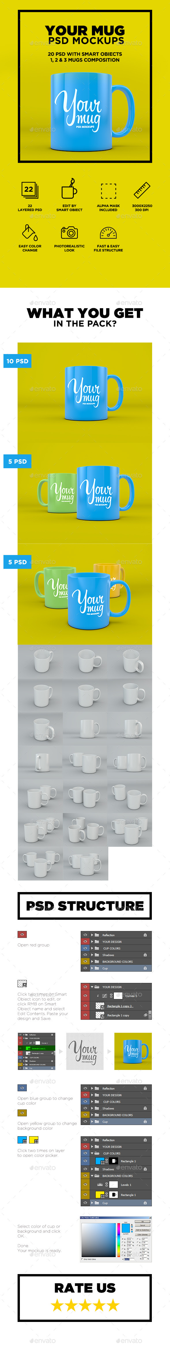 GraphicRiver Your Mug PSD Mockup 9412502
