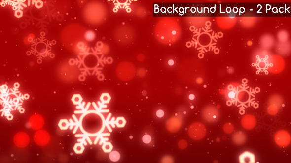 Christmas Red Snowflake Backgrounds