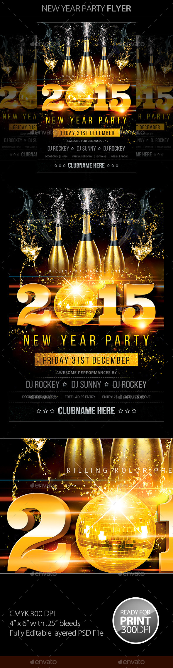 GraphicRiver New Year Party Flyer 9522834