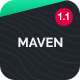 Maven - Responsive One Page Portfolio - ThemeForest Item for Sale