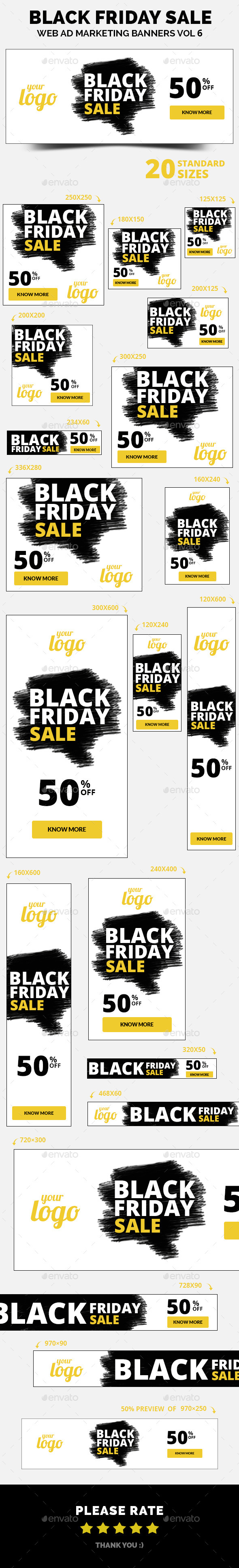 Black Friday Sale Web Ad Marketing Banners