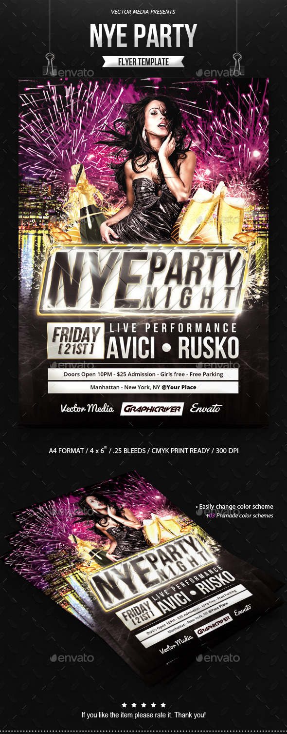 GraphicRiver NYE Party Flyer 9523095