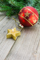 Christmas decoration with candle and bauble - PhotoDune Item for Sale