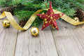 Christmas decoration on wooden plank - PhotoDune Item for Sale