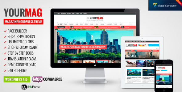 YourMag - Universal WordPress News/Magazine Theme  - News / Editorial Blog / Magazine