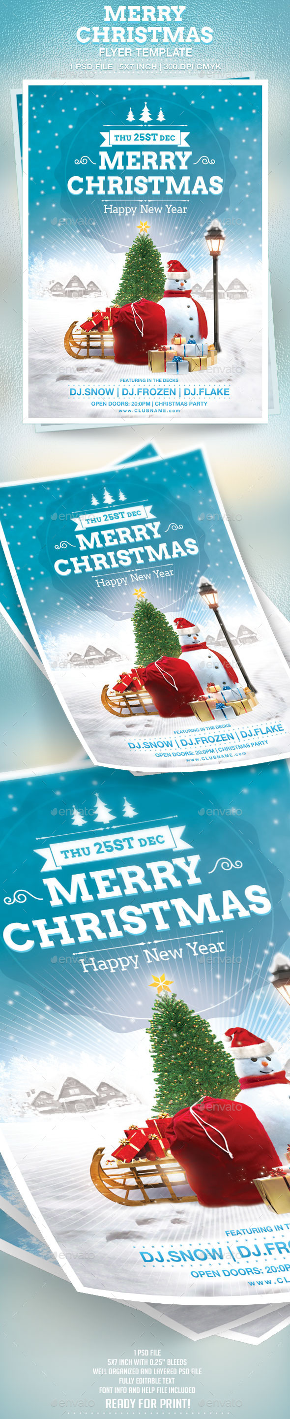 GraphicRiver Merry Christmas Flyer Template 9523297