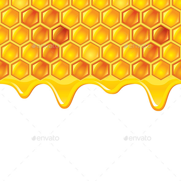 GraphicRiver Honeycombs with Honey 9523345