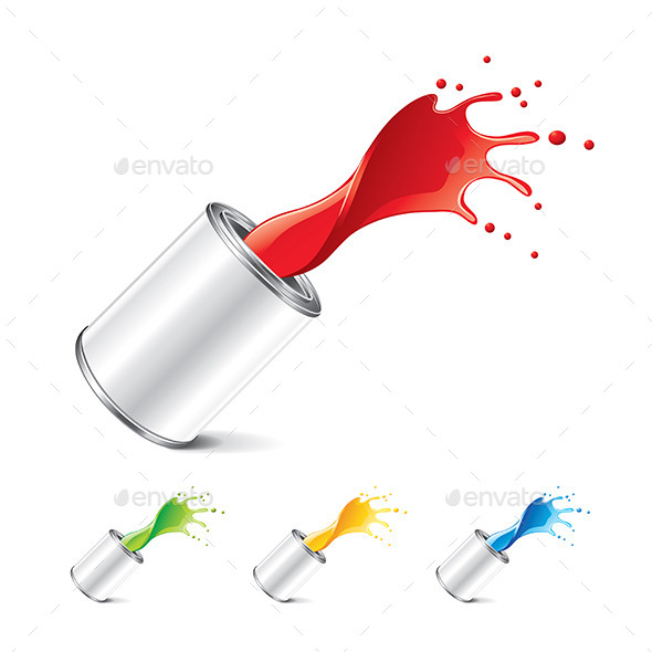 GraphicRiver Paint Can with Splashes 9523347
