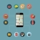 Flat Design Concept Mobile Phone Apps - GraphicRiver Item for Sale