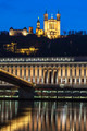 Vertical view of Saone river and basilica - PhotoDune Item for Sale