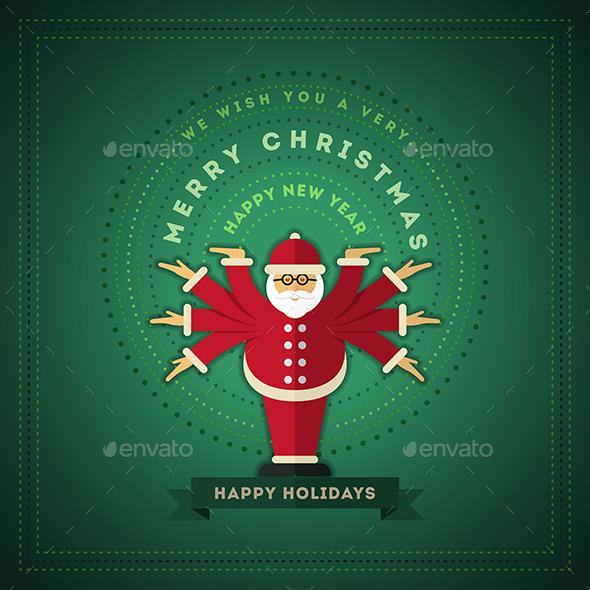 GraphicRiver Santa Claus Greeting 9523463