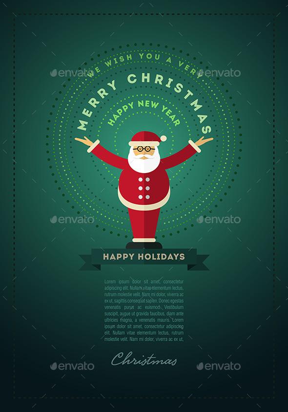 GraphicRiver Santa Claus Greeting Design For Christmas 9523474