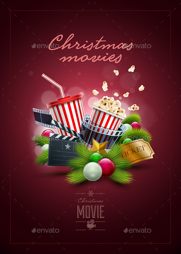 GraphicRiver Christmas Movie Poster Design 9523571