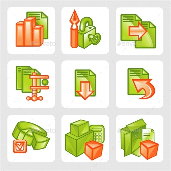 GraphicRiver Business Icons 9523695