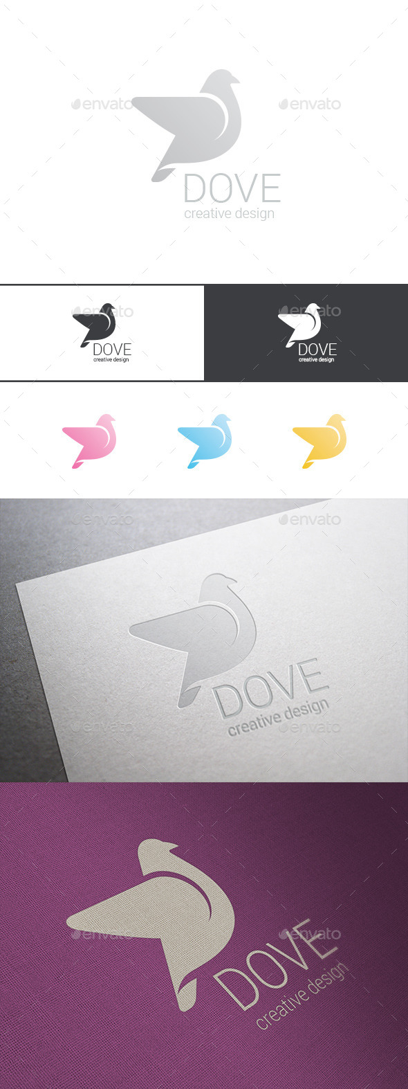 GraphicRiver Logo Dove Delicate Cosmetics 9523779
