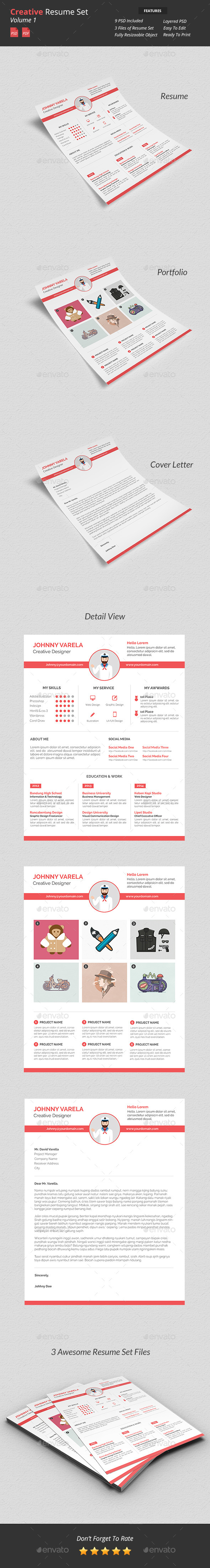 GraphicRiver Creative Resume Set v1 9523780