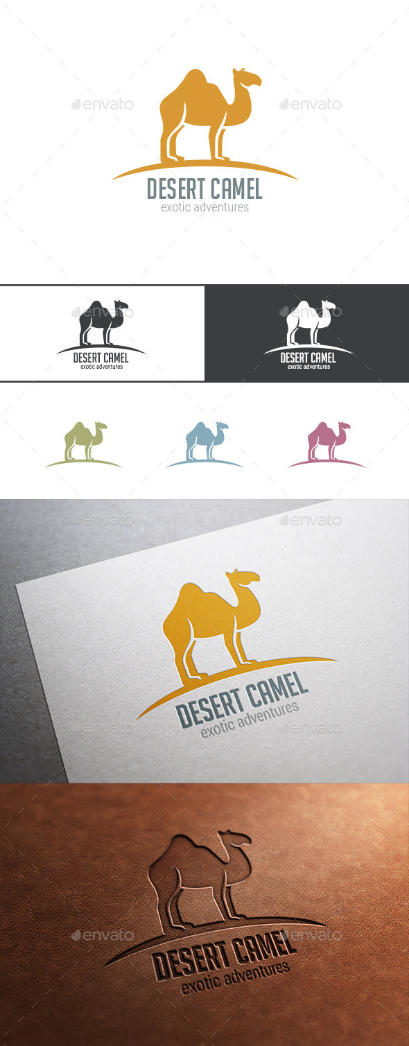 GraphicRiver Logo Camel Desert Animal 9523829