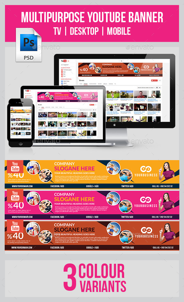 GraphicRiver Ivato Youtube Banner 9523862