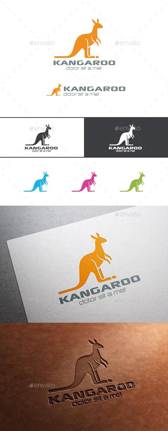 GraphicRiver Logo Kangaroo Silhouette 9523872