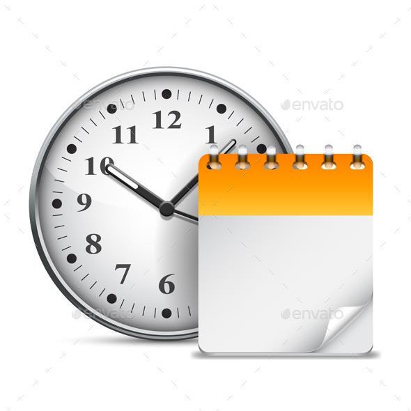 GraphicRiver Calendar and Clock 9524041